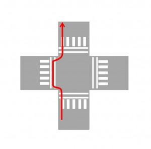 Microsoft Word - 交差点/基本1/自転車横断帯_直進